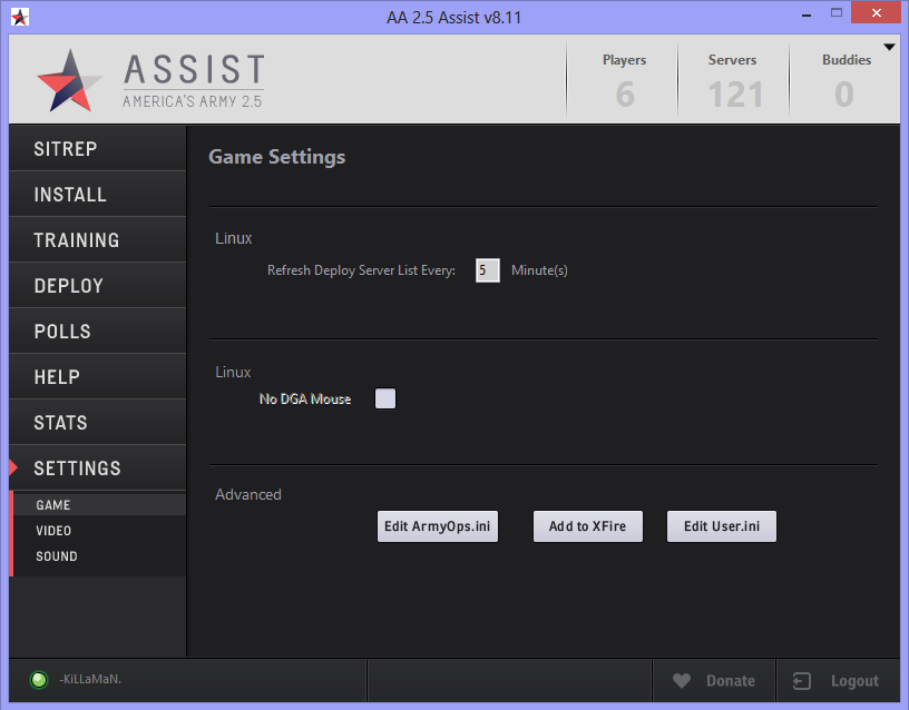 Assist Game Settings