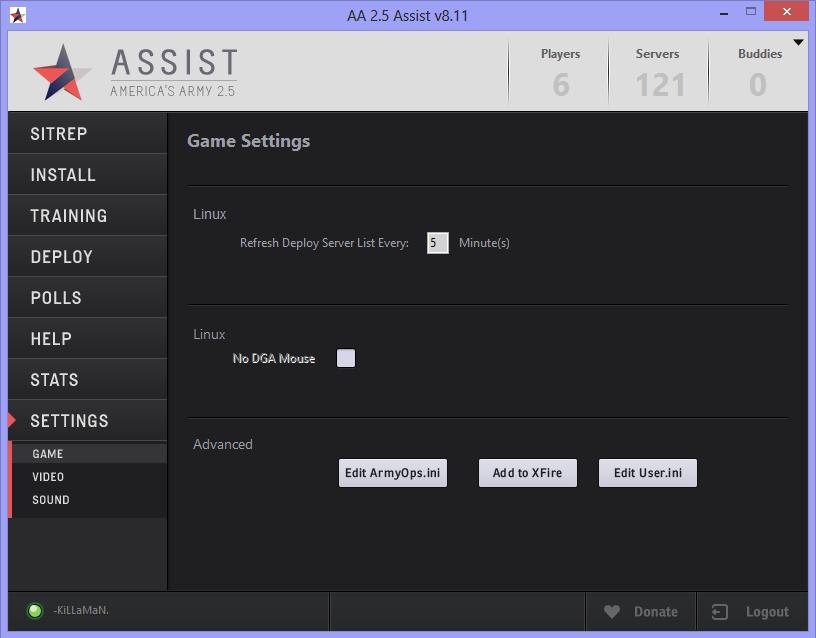 Assist Game Settings