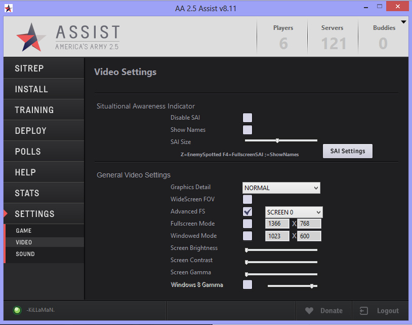 Assist Video Settings